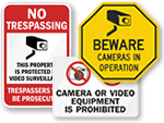 All Surveillance Signs