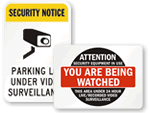Area Under Surveillance Signs