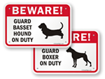 Beware Dog Breed Signs