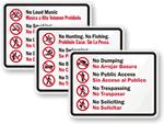 Bilingual Prohibition Signs