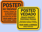 Customize Your Posted Sign