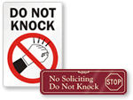 Do Not Knock Signs