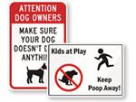 Dog Poop Signs