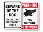 Funny Beware Signs