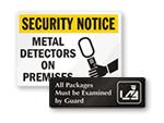 Metal Detector Signs