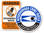 Neighborhood Crime Watch Signs
