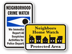 Neighborhood Watch Signs