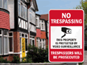 Post a no trespassing sign to ensure people stay off of your property.