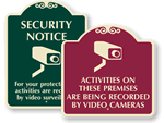 Decorative Surveillance Signs