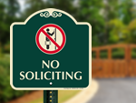 Designer No Soliciting Signs