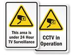 Economy Surveillance Signs