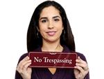 No Trespassing Door Signs