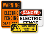 Electric Fence Signs