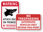 Free No Trespassing Signs - Download and Print!