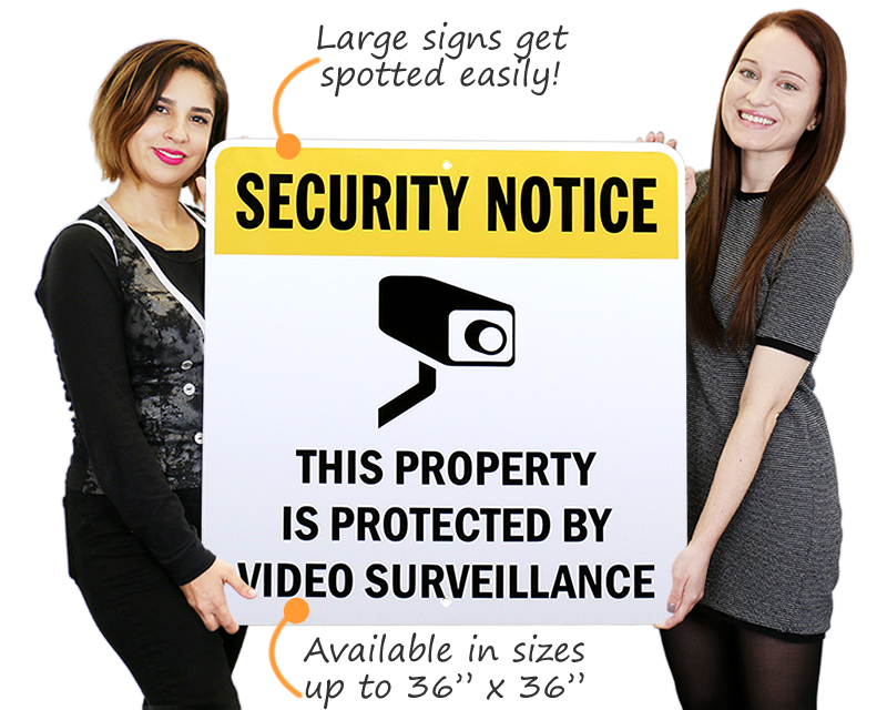 Large Video Surveillance Signs