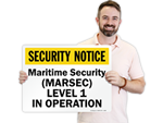 Maritime Security Signs
