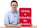 No Soliciting/No Trespassing