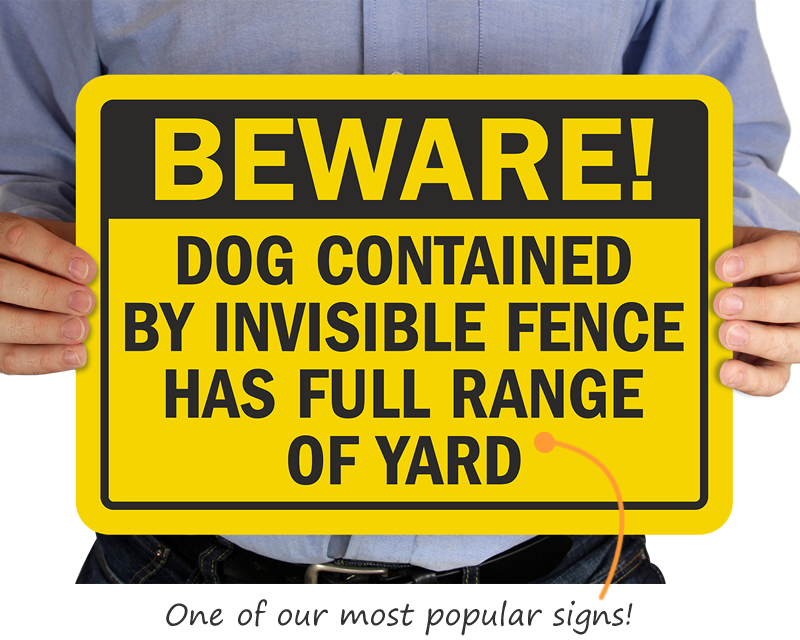 Dog Fence Signs