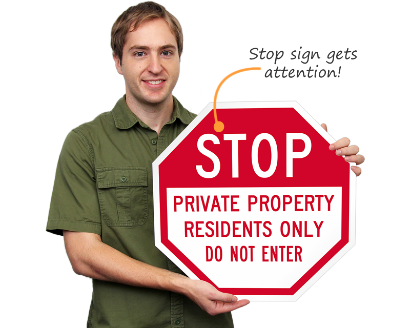 Stop Private Property Signs