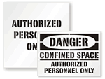 Authorized Personnel Only Stencils