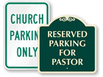 Church Members Parking Only Signs