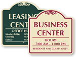Custom Hours Signs