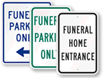 Funeral Parking Signs