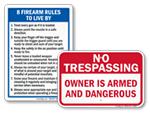Gun Owner Signs