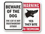 Funny Beware Signs