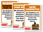 McGruff Neighborhood Watch Signs