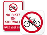 No Biking Signs