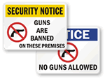 No Guns Signs
