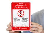 No Soliciting Door Signs & Decals