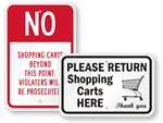 Shopping Cart Signs