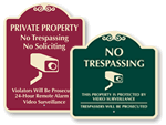 Decorative Video Surveillance Signs