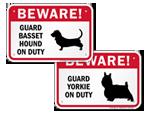 Beware Dog Breed Signs