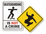 Skateboarding is allowed sign