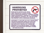 Texas Concealed Carry 30.06 Sign