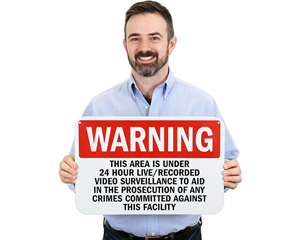24-Hour Surveillance Warning Signs