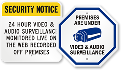Audio Surveillance Signs