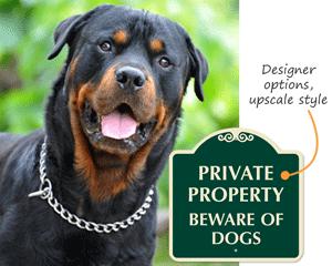 Designer Beware of Dog Signs