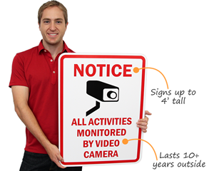 Video Surveillance Signs