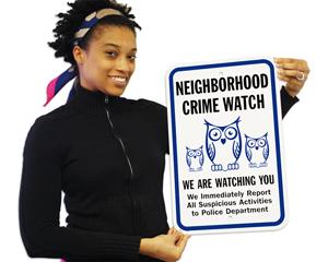 Community Neighborhood Crime Watch Signs