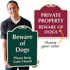 Designer Dog Signs