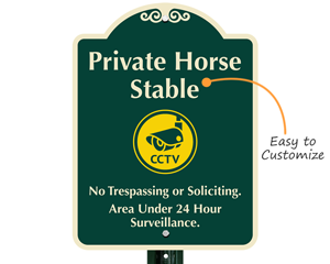Easy to customize private property sign
