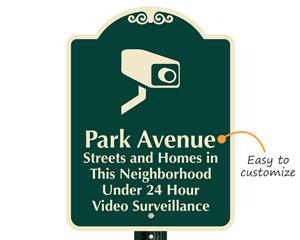 Neighborhood surveillance sign