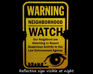 Reflective Neighborhood Watch Signs