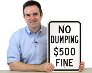 No Dumping Fine Signs