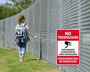 School No Trespassing Signs