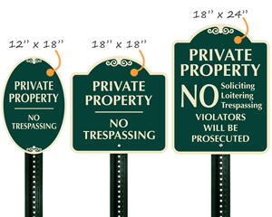 Designer No Trespassing Sign
